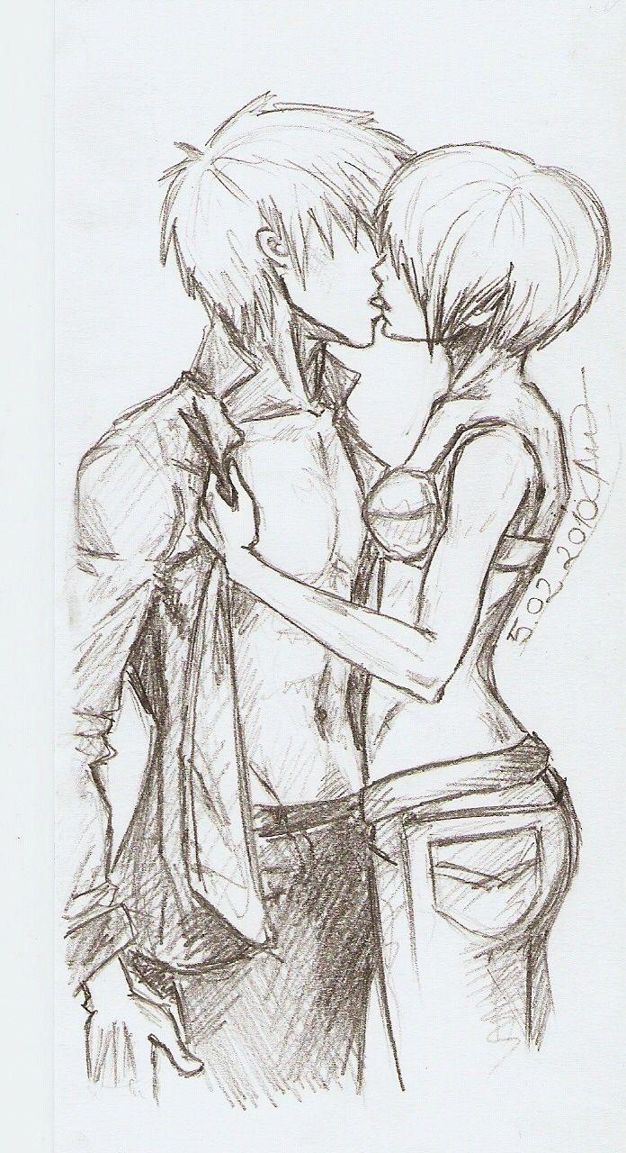 kiss sketch drawing