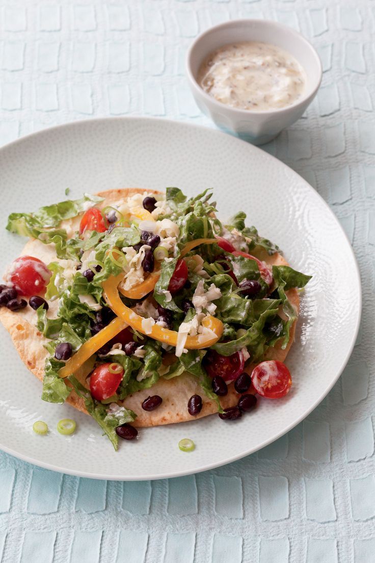 Eat-Your-Plate Taco Salad with Black Beans and Grilled Corn   Recipe