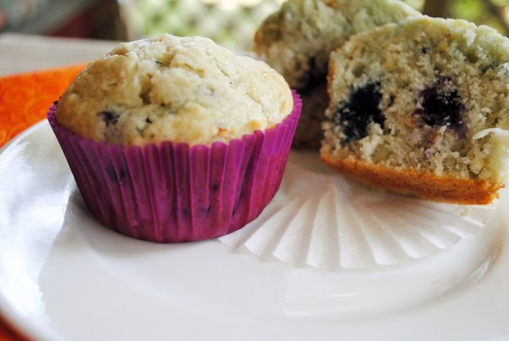 Toasted Coconut & Blueberry Muffins