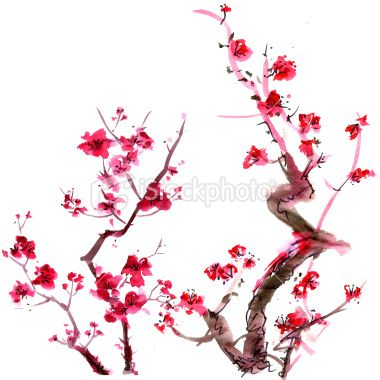 Plum blossom painting traditional Asian Art
