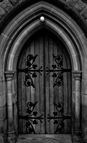 Church Of St Mary And All Saints Gothic Door Featuring A Gothic Arch