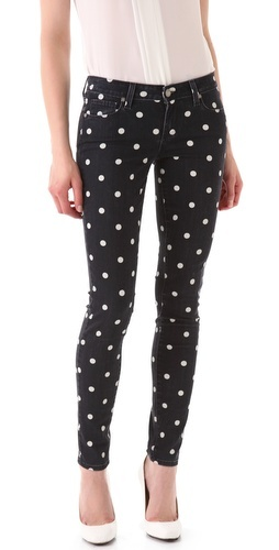 Paige Denim Polka Dot Verdugo Skinny Jeans. I'm way more into this than floral printed jeans!!!