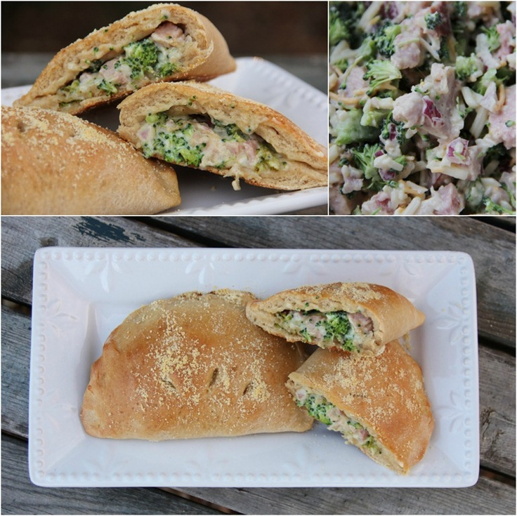 Broccoli, Ham & Swiss Calzones | Lunches | Pinterest