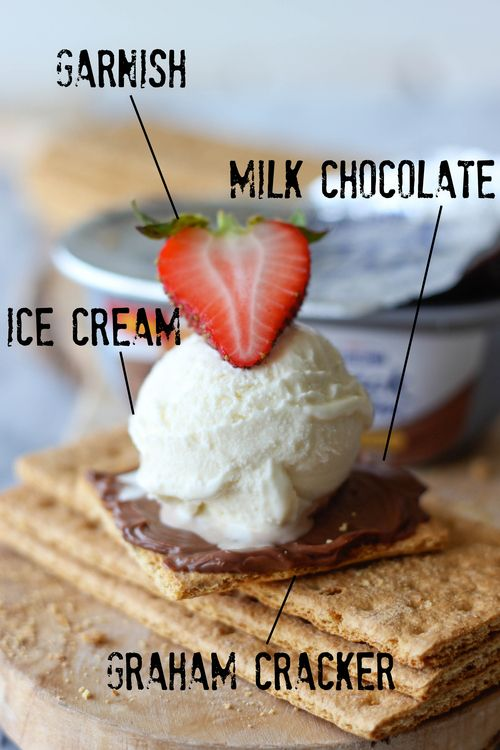 Graham Cracker Milk Chocolate Ice Cream Sandwich