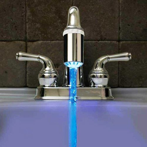 """""""LED color changing (according to the water temp) faucet nozzle.""""    Love it!"""