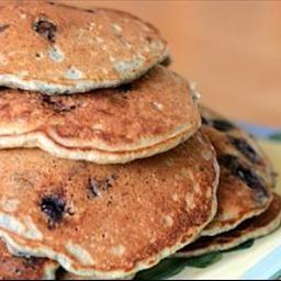 Rich Blueberry Buttermilk Pancakes on BigOven