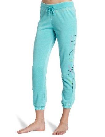 Discount Roxy Juniors Run Free Pant, Riveria Turquoise, Medium Special