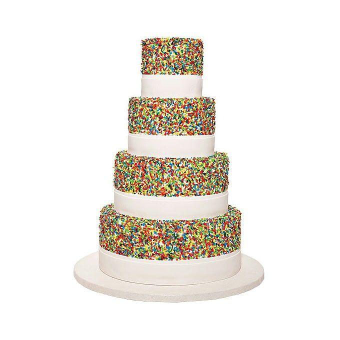 Sprinkled Rainbow Cake Lesbian Wedding Cakes Pinterest