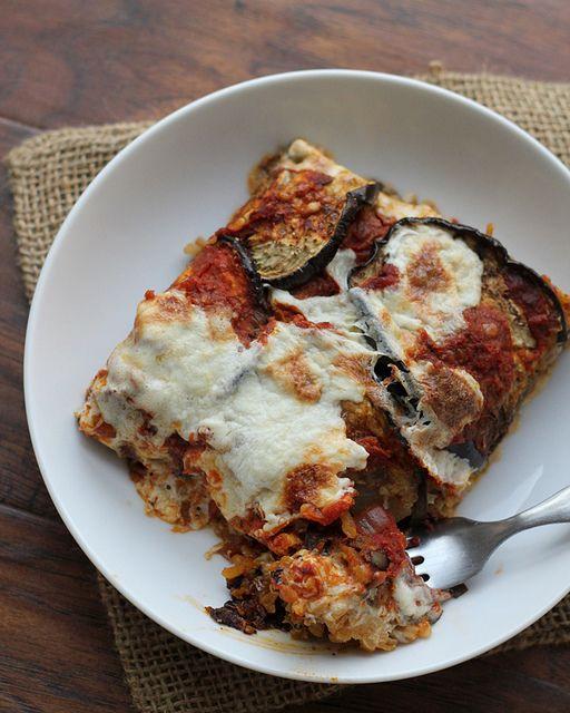 Eggplant, Mozzarella and Saffron Rice Bake   Recipe
