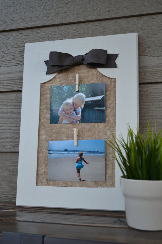 Rustic Shabby Chic Upcycled Cabinet Door Into Picture Frame For Two