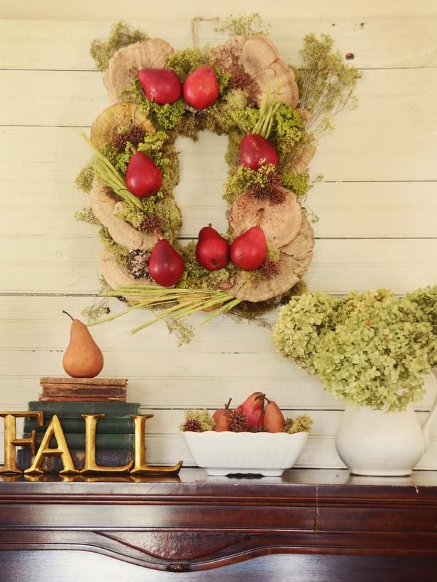 How to Make a Rectangular Rustic Fall Wreath    This simple and sophisticated wreath brings a natural element to holiday decor. Its versatility allows you to hang it on a door or use it flat on a table as a centerpiece.