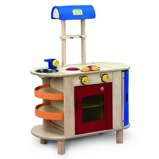 "Film your own episodes of ""Tot Chef"" as your kids play in this adorable kitchen set."