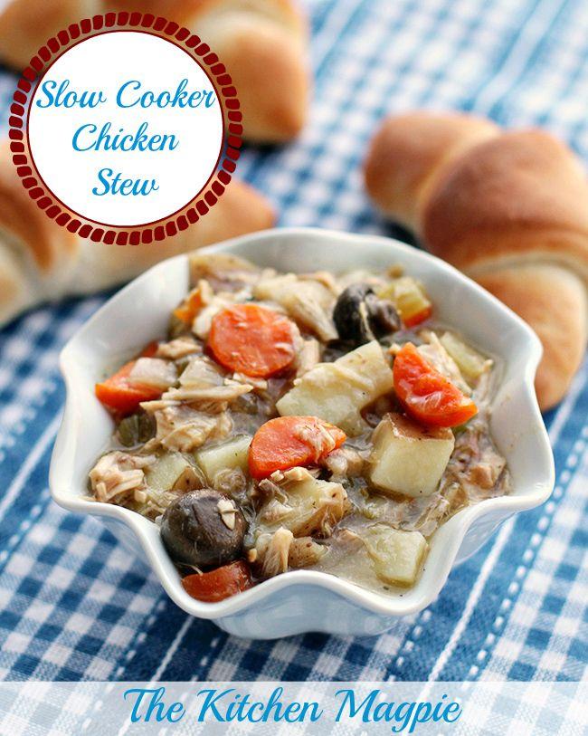 Slow Cooker Chicken Stew | Cookbook ~ Crockpot | Pinterest