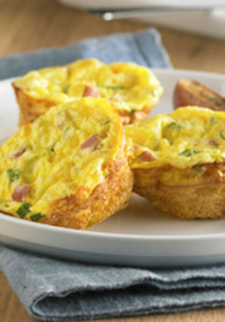 ... Day brunch? These Ham and Cheese Quiches are easy and delicious