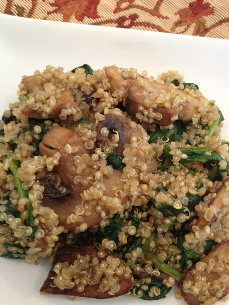 Spinach and Mushroom Quinoa | Quinoa ~ YUM! | Pinterest