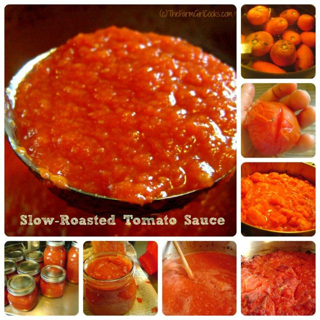 Slow roasted tomato sauce for canning | canning | Pinterest
