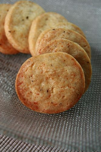 Savoury Cheddar and Black Pepper Cookies | Appetizers/Snacks | Pinter ...