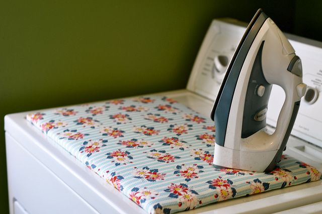 Love this idea! Easy and cheap DIY ironing board to fit on top of your dryer.