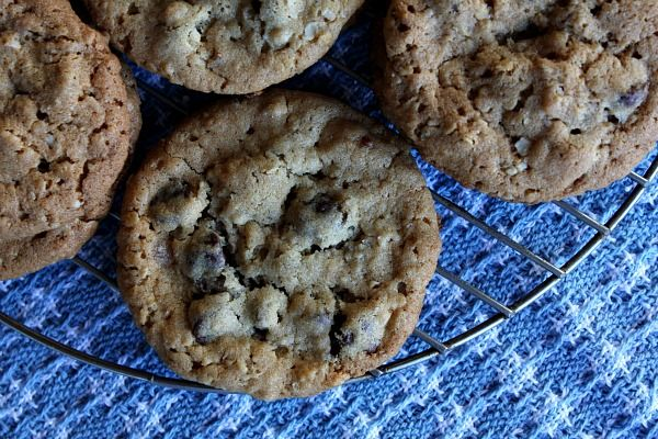 Peanut butter chocolate-chip oatmeal cookies with sea salt...guess ...