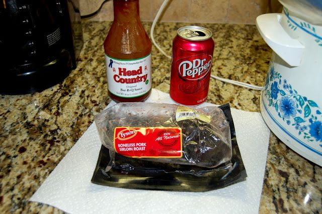 ingredient pulled pork in the crock pot (dr pepper makes this recipe ...