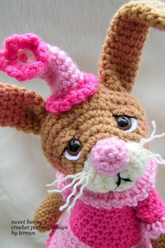 sweet bunny crochet pattern Crochet - Amigurumi Pinterest