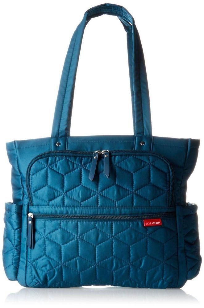 skip hop forma pack go diaper tote bag peacock turquoise travel lugga. Black Bedroom Furniture Sets. Home Design Ideas