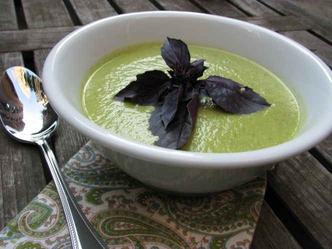 Zucchini Basil Soup Recipe - Hip Hostess | Sinfully Healthy Recipes ...