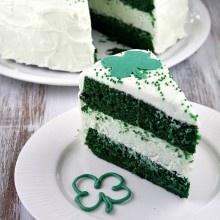 Green Velvet Cheesecake Cake 7 | Cake | Pinterest