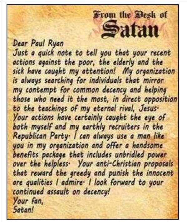 Satan writes fan lette... Ryan Reynolds