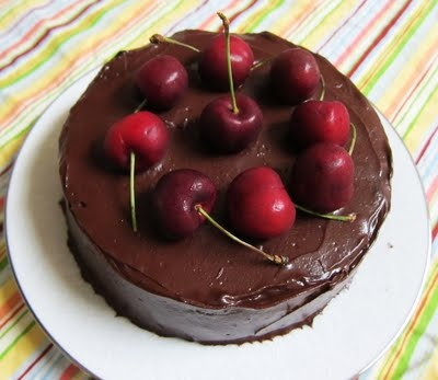 Vegan Dark Chocolate Cherry Stout Cake | Let them eat cake or cookie ...