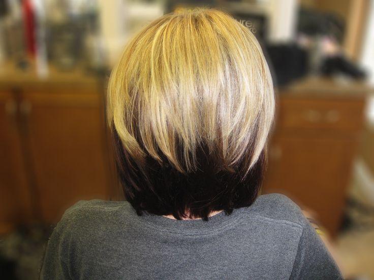 Blonde hair with dark brown underneath.   Hair by me ~ Alison ...