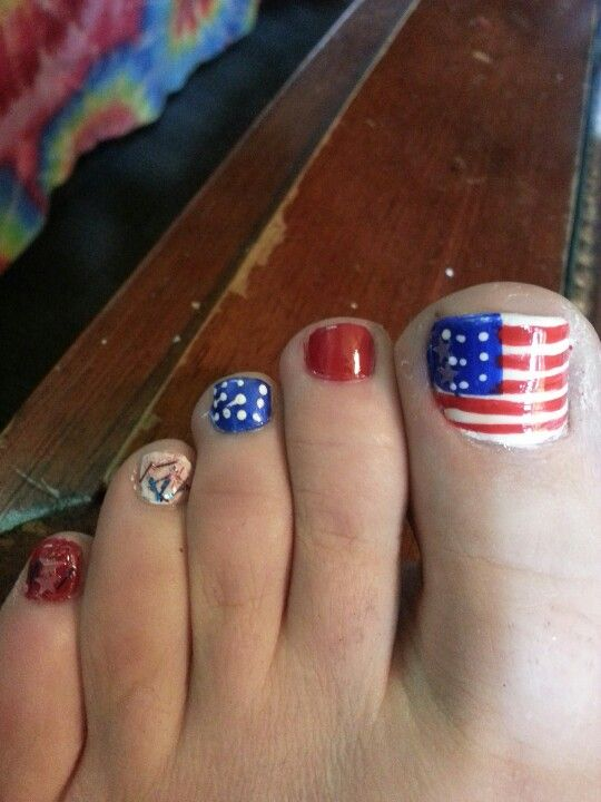 Toe nail designs for 4th of july th of july nails design cute view images th of july toe nail art fourth toenail prinsesfo Choice Image