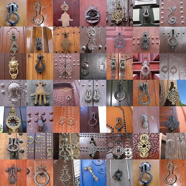 heurtoirs marocains/knockers in Morocco by mfdudu, via Flickr