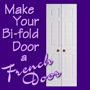 how to turn window into french doors