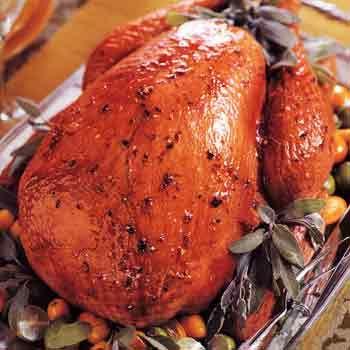 Citrus-Glazed Turkey with Chipotle Gravy Recipe | Epicurious.com