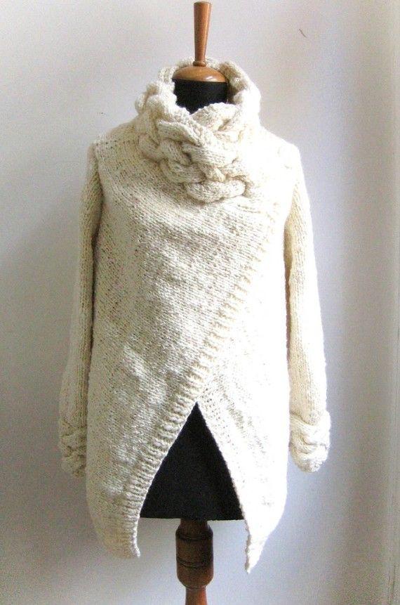 Hand Knit Cardigan Sweater 63