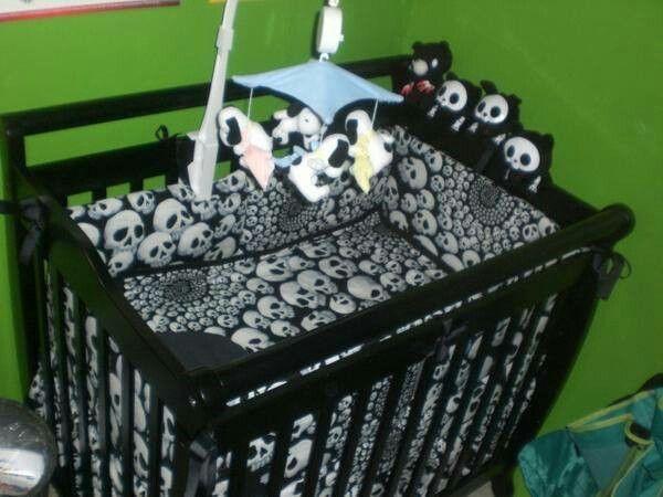 skull baby crib home