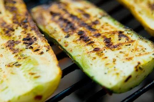 Grilled Squash and Zucchini. Salt, pepper and a little Parmesan cheese ...