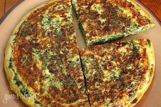 spinach and feta frittata | Yummy Yummy | Pinterest