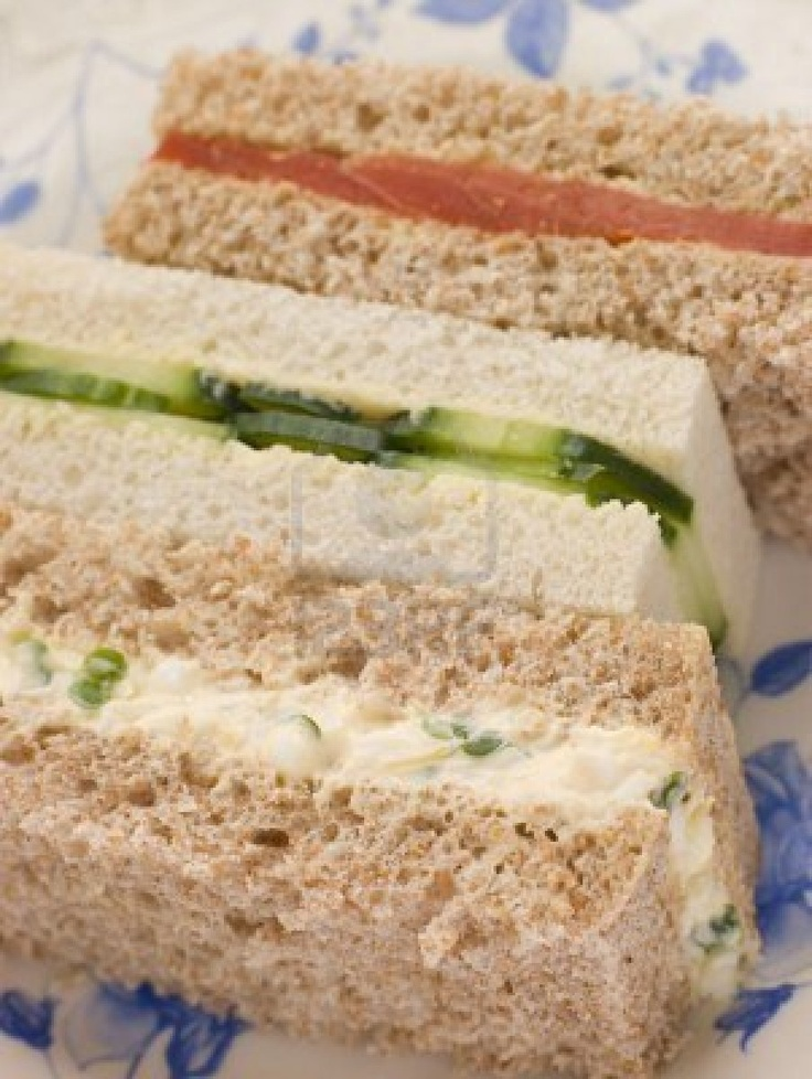 Afternoon Tea Finger Sandwiches Tea Party Sandwiches Savory