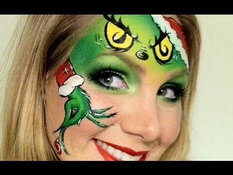 Grinch christmas face paint idea make up i love pinterest
