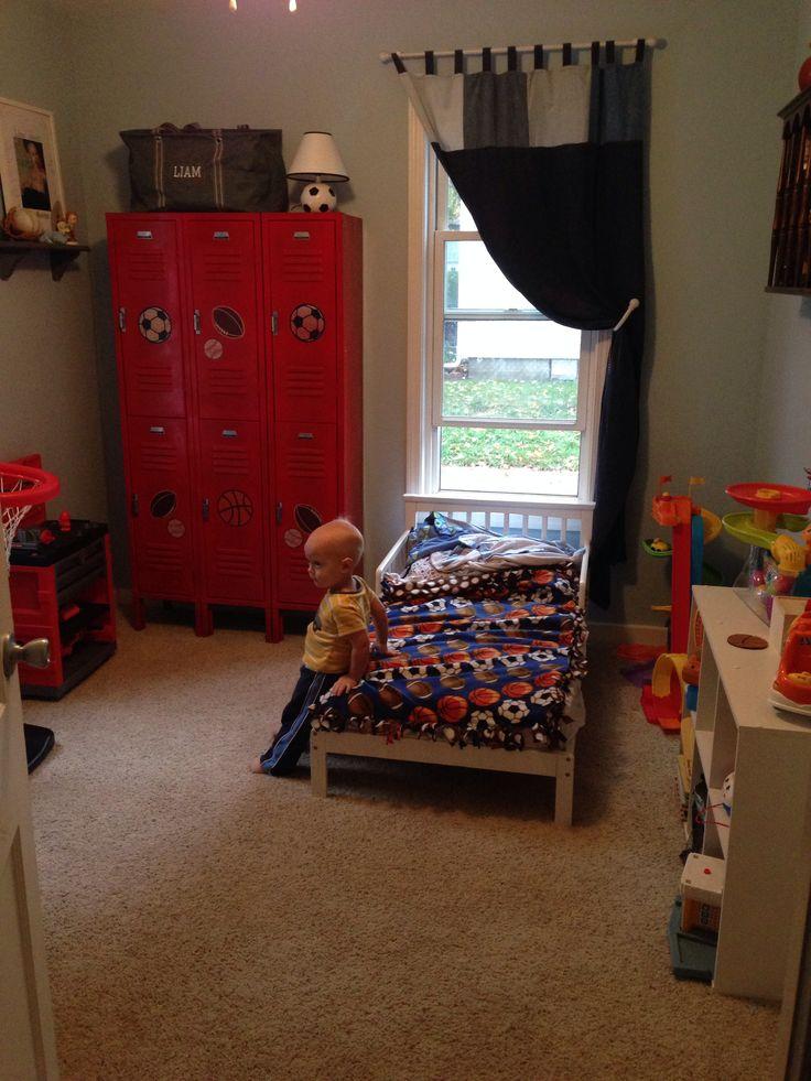 Comsports Locker For Kids Room : Boys sports room lockers  Boy Decor  Pinterest