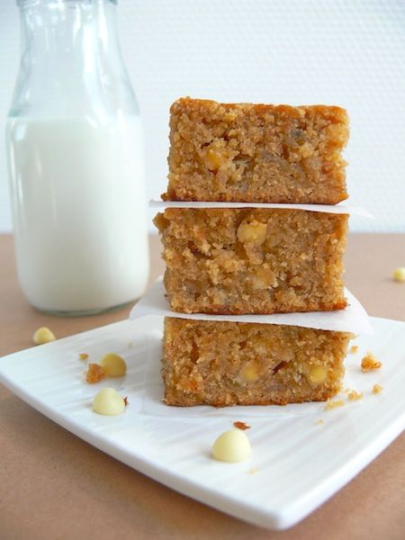 the Biscoff lovers or my Banana Biscoff White Chocolate Chip Blondies ...