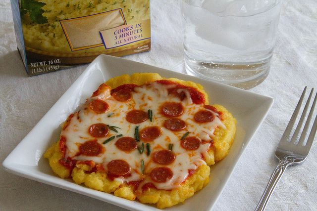 Personal Polenta Pizzas - Sugarcrafter | Foods | Pinterest