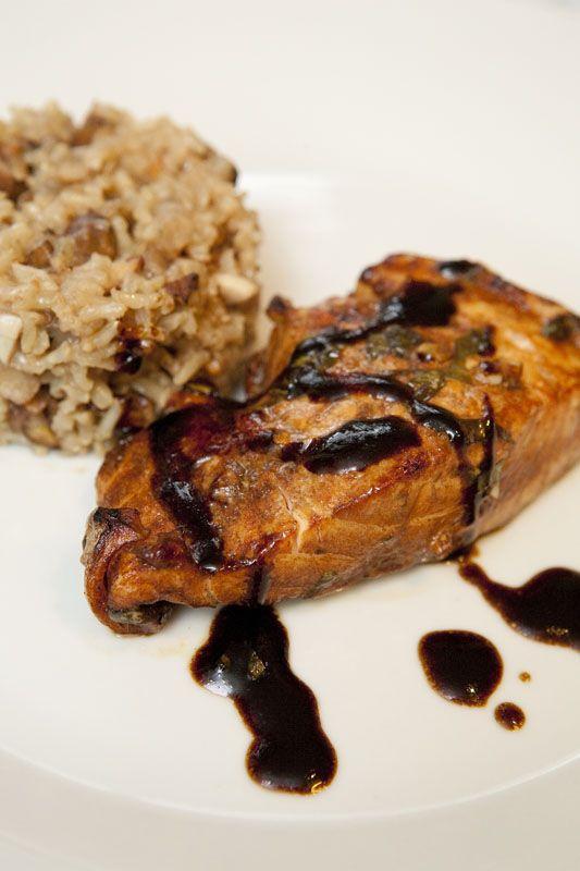 Balsamic Glazed Salmon   What's For Dinner   Pinterest