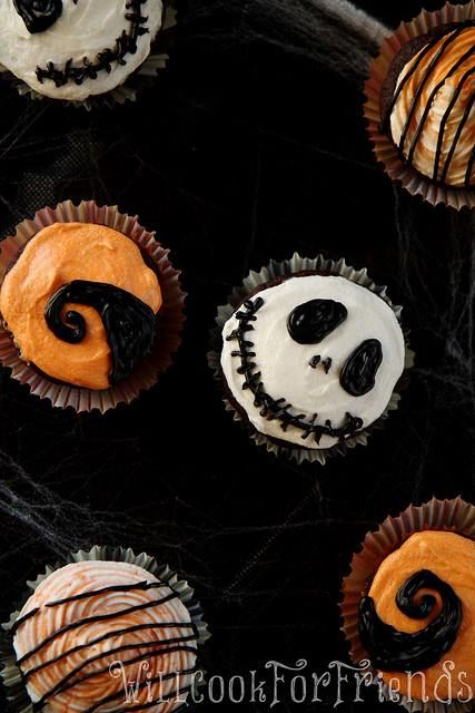 Nightmare Before Christmas Cupcakes | Halloween Party Ideas | Pintere ...