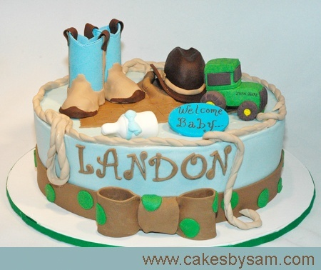 Country Boy Baby Shower @ Ali can you make this for the baby shower???