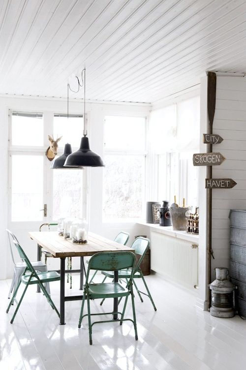 Industrial pendant lighting dining room pinterest - Lovely dining rooms with hanging lights ...