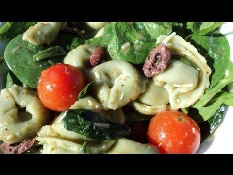 SPINACH & TORTELLINI SALAD (+playlist) | Vegan/Vegetarian | Pinterest