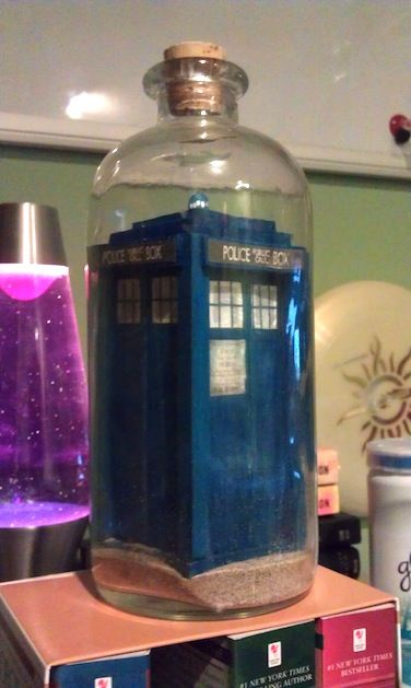 For all you Dr Who nuts out there...would you have the patience to make a TARDIS in a bottle?